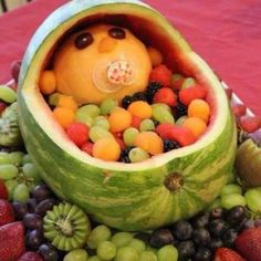 Baby shower fruit salad platter