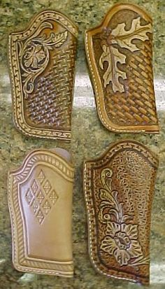 Posts about Gun holsters written by Thanh N. Leather Stamps, Leather Art, Sewing Leather, Leather Pattern, Leather Tooling, Custom Leather Holsters, Leather Working Patterns, Leather Projects, Leather Crafts