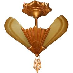 Virden Art Deco 3 - Light Slip Shade Chandelier Fixture