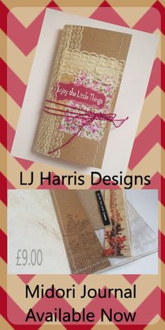 Rustic Junk Journal Midori with tags and tuck spots, available now on my etsy £9.00