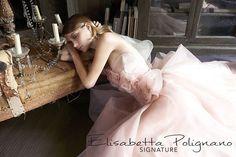 Collezione Signature 2014 - Elisabetta Polignano: abito da sposa romatico dal color cipria #wedding #weddingdress