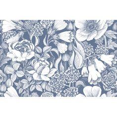 "Marimekko Volume 4 Oodi 33' x 21"" Floral and Botaincal Wallpaper Color: Foggy Grey"