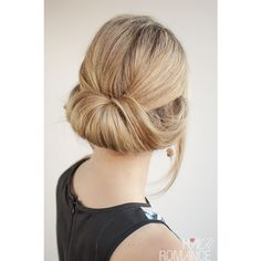 The Rollup Bun! ❤ liked on Polyvore featuring beauty products, haircare, hair styling tools and hair