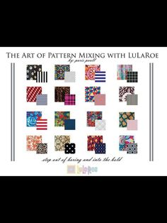 The art of LuLaRoe pattern mixing! Here are just a few examples of how it's done! Don't be afraid to mix those patterns, ladies!  Want to see more?! Come on over and join us on our VIP page!  www.facebook.com/groups/bastiansroe/