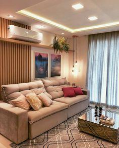 Sala clean e moderninha . Home Living Room, Living Room Designs, Living Room Decor, Cozy Room, Beautiful Living Rooms, House Design, Interior Design, Furniture, Home Decor