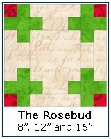 Click here for the Rosebud quilt block tutorial