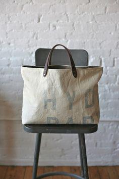 1940's era Canvas Tote Bag