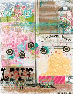 Art Journaling 102: Technique Focus – Making Backgrounds | Studio Tangie. Page by Julie Ann Shahin
