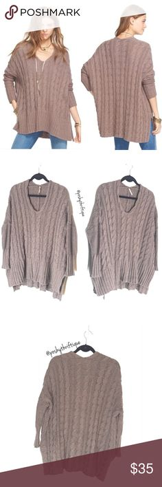 Free People Womens Sweater Oversized Taupe XS SIZE: XS / SMALL  STYLE: COMFY / Casual  BRAND: Free People  MATERIAL: 100% Cotton COLOR: Taupe  MEASUREMENTS:  Length :Approx 29 in  Underarm To Underarm : Approx 28 in  Bust : Approx up to 56 in  Sleeve : Approx 28 in CONDITION : Great Pre Loved Condition  COUNTRY OF MANUFACTURER :  CHINA  SMOKE FREE & PET FREE ENVIRONMENT Free People Sweaters Crew & Scoop Necks