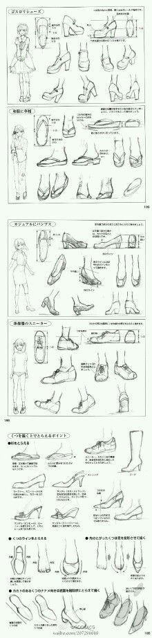 Drawing reference shoes