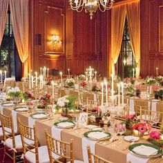 pink and gold wedding reception | Green, Pink and Gold Wedding Reception // photo by: Aaron Delesie ...
