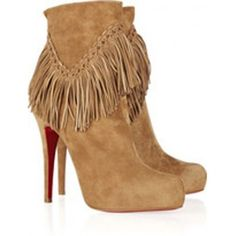 Christian Louboutin Rom 120 fringed boots