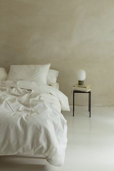 'Purity' is a pure white cotton design, woven with a special technique to ensure the soft touch stays crisp, as if you just made your bed. Bedroom Inspo, Home Bedroom, Bedroom Decor, Bedroom Signs, Decorating Bedrooms, Master Bedrooms, Bedroom Apartment, Bedroom Furniture, Bedroom Ideas