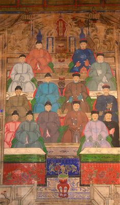 Chinese Antique Ancestral Group Portrait On Canvas http://www.busaccagallery.com/userfiles/4938_4835_1w.jpg