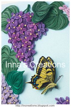 Quilled swallowtail butterfly by Inna's Creations, via Flickr