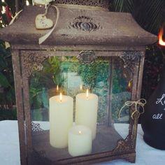 Lantern Wedding Card Hoder Shabby Chic & Rustic by ChiKaPea, $87.00