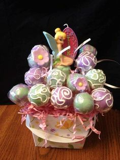 These Tinkerbell Cake Pops are Low Carb and Low Sugar...Made by It Cakes Two-orders by phone...	(304) 421-5052