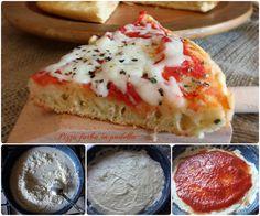 Pizza furba in padella pronta in 15 minuti | Il mondo di Adry Italian Dishes, Italian Recipes, Focaccia Pizza, Veg Pizza, Quiches, Pizza Recipes, Master Chef, My Favorite Food, Food Porn