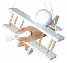 Waldi Kinderlampe Flugzeug weiß/natur