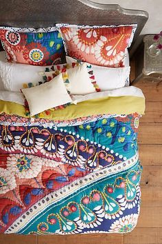 Anthropologie Tahla Quilt. Love these bright colors.