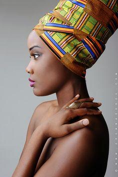 African printed head wrap