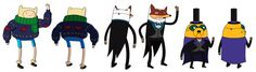 """Characters by Andy Ristaino """"Adventure Time""""- http://www.skronked.com/"""