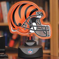Cincinnati Bengals Neon Helmet Lamp