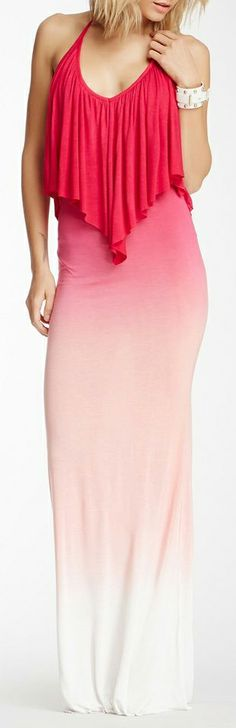 Ombre halter dress add an under shirt and a cardigan and we'd be solid