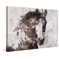 Marmont Hill - 'Gorgeous Horse' by Irena Orlov Painting Print on Wrapped Canvas | Overstock.com Shopping - The Best Deals on Canvas Art