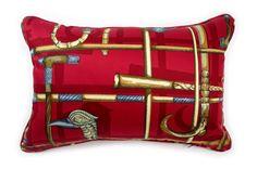 超希少ピエロフォルナセッティI BASTONIレッドデザインのヴィンテージ生地クッション #cushion #cushioncover #クッション #クッションカバー #ヴィンテージ #アンティーク #vintage
