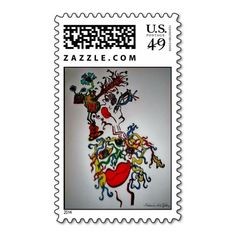 """""""Medusa"""" Abstract Art Stamps by Madonna"""
