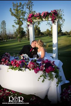 Mr & Mrs Wedding Photography | Valencia Country Club | Husband & Wife Kisses | Beautiful Wedding Colors |