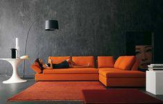 Modernes Wohnzimmer Design - helle, kontrastierende Farben - http://cooledeko.de/wohnzimmer-ideen/modernes-wohnzimmer-design-hell.html