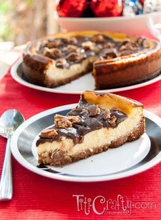 Snickers Bar Chunks Cheesecake | The Crafting Nook by Titicrafty