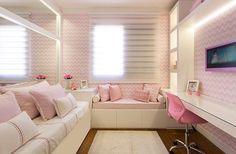 Bons sonhos com este quarto delicado e lindo by Monise Rosa. Amei{não tem como negar que o rosa deu aquele toque especial que toda garota ama não é?! } Me encontre também no @pontodecor {HI} Snap: hi.homeidea www.homeidea.com.br #bloghomeidea #olioliteam #arquitetura #ambiente #archdecor #archdesign #hi #cozinha #homestyle #home #homedecor #pontodecor #homedesign #photooftheday #love #interiordesign #interiores #picoftheday #decoration #world #lovedecor #architecture #archlovers #inspiration