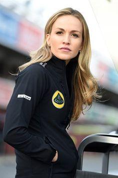 Carmen Jorda of Spain. Formula One development driver for Lotus. 2015.
