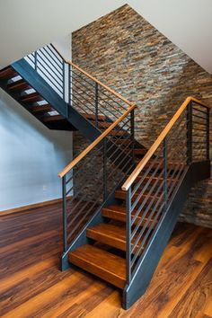 West Wisconsin Contemporary contemporary-staircase