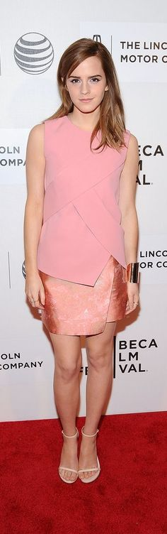 Emma Watson in Narciso Rodriguez at the Tribeca Film Festival