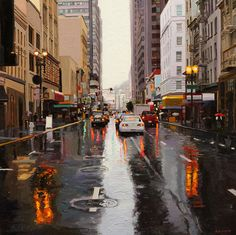 Reflections On Kearny Street  painting by Greg Gandy