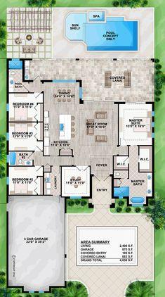 Coastal Contemporary Florida House Plan 52921 Level