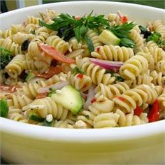 Best Pasta Salad Ever! (And it makes a ton!)