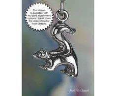 Skunk Charm Sterling Silver Skunks Stinky Wild von jewelbecharmed