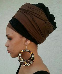 Beautiful headwrap and earring