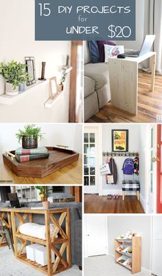 DIY Projects Under $20 | A roundup of 15 DIY projects you can build for less than $20