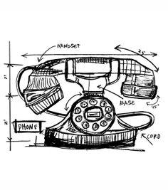 Tim Holtz Red Rubber Stamp-Phone Sketch at Joann.com