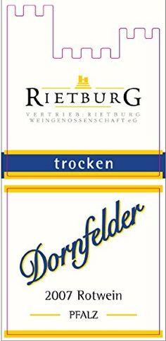 Red Wine.  2013 Rietburg Dornfelder 750 mL -- Additional details @ http://www.amazon.com/gp/product/B00JDOL2CO/?tag=wine3638-20&pwx=160816142341