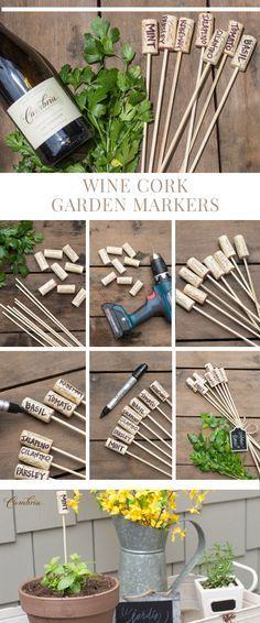 Wine Cork Garden Markers | Cambria Wines