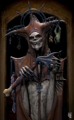 Shaman by Simon Webber Arte Horror, Horror Art, Horror Movies, Dark Creatures, Fantasy Creatures, Dark Fantasy Art, Fantasy Artwork, Dark Artwork, Macabre Art