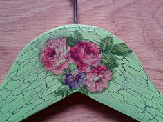 Hey, I found this really awesome Etsy listing at https://www.etsy.com/uk/listing/457472150/floral-old-style-painted-hanger-wooden