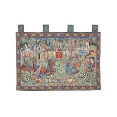 Buy Joust at Camelot Tapestry Woven Wall Hanging, Tapestry Wall Hanging, Tapestry Online, Bayeux Tapestry, English Heritage, 11th Century, Medieval Times, Tapestry Weaving, Jacquard Weave